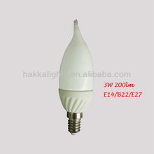 No pollution energy saving led candle lamps 3W E14 Base AC85-277V for indoor lighting