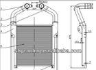 Universal Full Aluminium Turbo 545mmX644mmX42mm bar&plate front mount intercooler