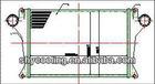 Universal Full Aluminium Turbo 470mmX322mmX42mm bar&plate front mount intercooler