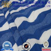 Colors selectable jacquard fabric blue white stripe