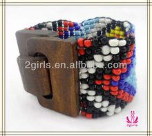 wooden jewelry,elastic charm bracelet