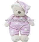 plush sleeping bear/sleeping bear plush toy/plush bear toy