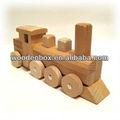 simple de madera de tren de juguete