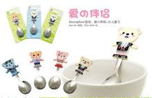 Children Animal kids cartoon tableware,coffee spoon,spoon