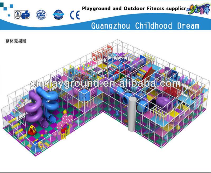 (HC-22336) PARK PLAYGROUND NAUGHTY CASTLE,LARGE THEME PARK 4 FLOOR SOFT INDOOR PLAYGROUND