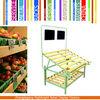 wood fruit display rack