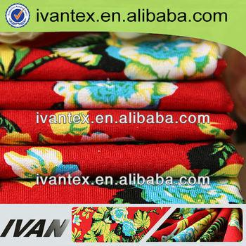 Fashion new design pretty soft textile rayon spandex polyester jersey custom printed fabric design