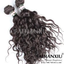 2013 Wholesale natural black water wave Malaysian 100% human hair weave brands