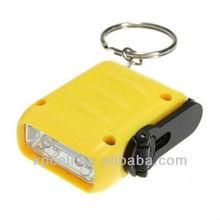 Mini Dynamo Keychain 2-LED hand crank light