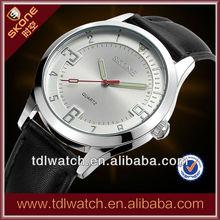 9136 Elegant Leather Strap Anticlockwise Watch