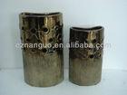 bronze flower pot and vase round planter pot
