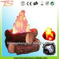la llama de la lámpara con troncos artificiales falsos de fuego luz de la llama de fuego material de los registros de las llamas