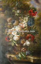 handmade famous oil painting of classic flower on canvas