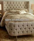French style pine wood bedding sheet soild wood bed