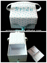fabric covered bridal gift box