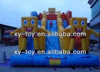 New design spongebob inflatable giant dry slide