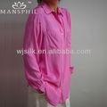 más el tamaño de satén de seda blusas de seda para las mujeres