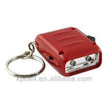 Mini Dynamo Keychain 2LED hand crank dynamo generator
