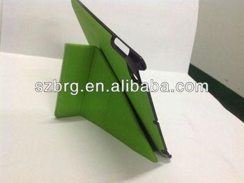 Ultra slim thin Kickstand Leather skin for ipad mini smart case cover