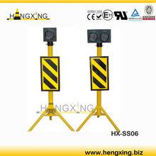 HX-SS06 bright led solar flashing warning light sign