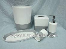 Ceramic Bath Accessories-Lotion pump, Tumbler, Soap dish, Tissue Cover, Towl tray & Waste can
