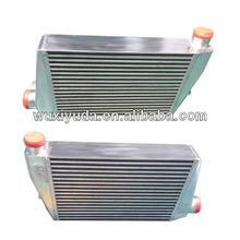 aluminium plate bar intercooler for cars with powdering finish
