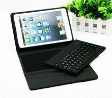 2013 PU Leather case Bluetooth Keyboard case For iPad Mini