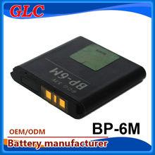 1100mAh 3.7V Li-ion cell battery for Nokia BP6M mobile phone battery 3.7V