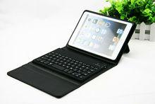 2013 New leather case wireless bluetooth keyboard case for ipad mini