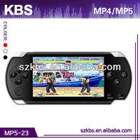 "4.3"" TFT screen firmware mp5 game player Support 32 bit BIN games,2MP camera"