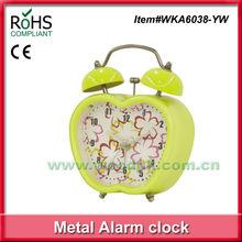 Woodpecker funny bell clock apple shape alarm clock plastic alarm clock