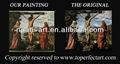 Hot venda jesus cristo pinturas a óleo em tela de linho