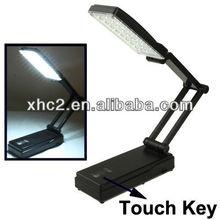 2013 hot LED-658B 27 LED Rechargeable Folding Desk Lamp