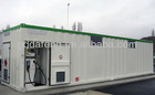 High container boat fuel tank with diesel generator
