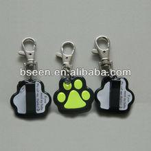 paw shape led dog tag