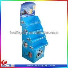 advertising display unit/radiator shelf promotional paperboard display/advertising paper display stand