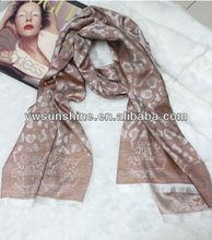 fashion ladies leopard print silk pashmina shawl