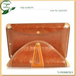 Multi-angle PU leather case for ipad mini,luxury case cover for ipad mini