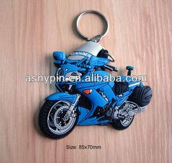 Rubber pvc motorcycle keyring, motor logo keyholder, motor keycharm