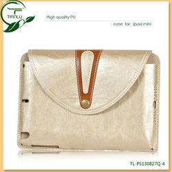 Newest Design High Quality PU Leather Case for ipad mini,traveling bag case for ipad mini