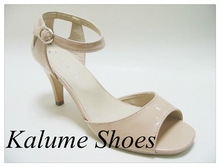 Fashion Hot sell and newest style sexy women sandal shoes shining black sexy hig heel beautiful sandals
