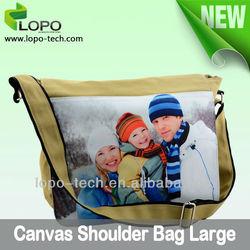 Blank Sublimation Canvas shoulder bag, sublimation bag