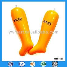 Foldable inflatable shoe insert shaper stopper, inflatable boot shaper stopper