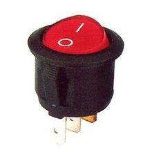 Light unipolar switch red 16A 3 faston