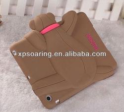 for mini ipad 3D bear soft silicone case cover