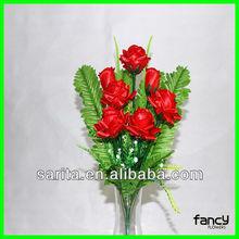 Durable 7 heads artificial rose flower
