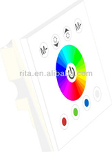 LED RGBW touch wall mounted type controller,DC12-24V input,4A*4 channel output;white color