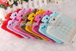 Brand New Bear silicone case cover for ipad mini