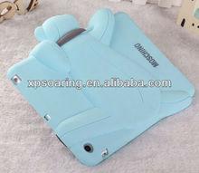 High quality Silicone case cover for ipad mini bear design