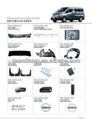 NISSAN NV200 parts/grille/bumper/mirror/fog lamp
